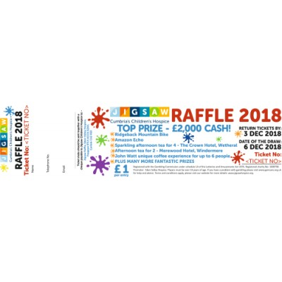 Jigsaw Raffle 2018 tickets x15